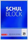 BRUNNEN Schulblock/Kieserblock DIN A4, Lineatur 25, 50 Blatt
