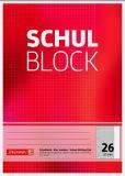 BRUNNEN Schulblock/Kieserblock DIN A4, Lineatur 26, 50 Blatt