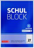 BRUNNEN Schulblock DIN A4, Lineatur 27, 50 Blatt, Recycling