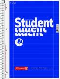 BRUNNEN Collegeblock DIN A4, Lineatur 27, mit Doppelrand, 80 Blatt