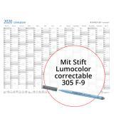 STAEDTLER® Plakatkalender Lumocolor® 2020 mit Stift