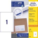 Avery Zweckform Universaletikett ultragrip 3418 200 x 297 mm weiß