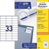 Avery Zweckform Universaletikett ultragrip 3421 70 x 25,4 mm weiß