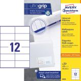 Avery Zweckform Universaletikett ultragrip 3424 105 x 48 mm weiß