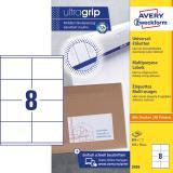 Avery Zweckform Universaletikett ultragrip 3426 105 x 70 mm weiß