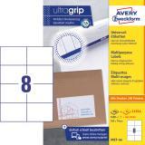 Avery Zweckform Universaletikett ultragrip 3427-200 105 x 74 mm weiß