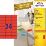 Avery Zweckform Universaletikett 70 x 37 mm, rot