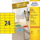 Avery Zweckform Universaletikett 70 x 37 mm, gelb
