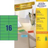 Avery Zweckform Universaletikett 105 x 37 mm farbig grün