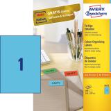 Avery Zweckform Universaletikett 210 x 297 mm blau