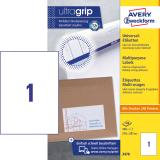 Avery Zweckform Universaletikett ultragrip 3478 210 x 297 mm weiß