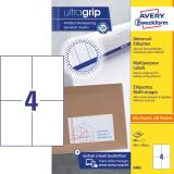 Avery Zweckform Universaletikett ultragrip 3483 105 x 148mm weiß