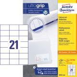 Avery Zweckform Universaletikett ultragrip 3652-200 70 x 42,3 mm weiß