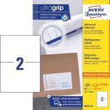 Avery Zweckform Universaletikett ultragrip 3655-200 210 x 148 mm weiß