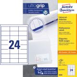 Avery Zweckform Universaletikett ultragrip 3658 64,6 x 33,8 mm weiß