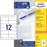Avery Zweckform Universaletikett ultragrip 3659 97 x 42,3 mm weiß
