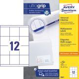 Avery Zweckform Universaletikett ultragrip 3661 70 x 67,7 mm weiß