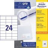 Avery Zweckform Universaletikett ultragrip 3664 70 x 33,8 mm weiß