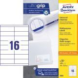 Avery Zweckform Universaletikett ultragrip 3665 105 x 33,8 mm weiß