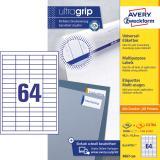 Avery Zweckform Universaletikett ultragrip 3667-200 48,5 x 16,9 mm weiß