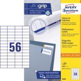 Avery Zweckform Universaletikett ultragrip 3668 52,2 x 21,2 mm weiß