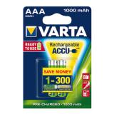Varta Akku Ready2Use Micro/AAA 2 St./Pack. 1.000 mAh