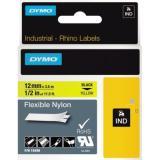 DYMO® Schriftbandkassette IND Nylon 12 mm x 3,5 m gelb