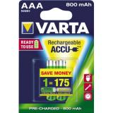 Varta Akku Ready2Use Micro/AAA 2 St./Pack. 800 mAh