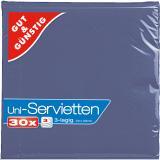 Serviette 33x33cm 30er Pack blau