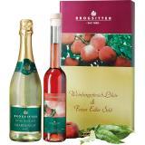 Likör Präsent Weinbergpfirsisch-Likör 0,35 l & Chardonnaysekt 0,75 l