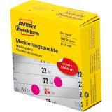 Avery Zweckform Markierungspunkt 10 mm magenta