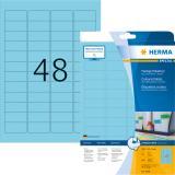HERMA Universaletikett SPECIAL 45,7x21,2 mm 960 Etiketten blau