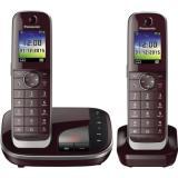 Panasonic Telefon KX-TGJ322GR Duo AB schnurlos weinrot 2 St.Pack.