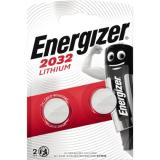 Energizer Knopfzelle CR 2032 E301021402 Lithium 2 St.Pack.