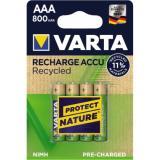 Varta Akku Recycled 56813101404 AAA NIMH 800mAh 4 St.Pack.