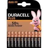 DURACELL Batterie Plus Power 020146 Micro AAA LR03 1,5V 20 St.Pack.