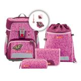 Step by Step Schulranzenset SPACE 00188142 Natural Butterfly 5teilig