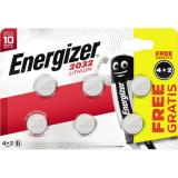 Energizer Knopfzelle 2032 Lithium E302275000 4+2 St.Pack.