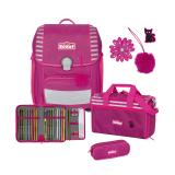 SCOUT Schulranzenset Genius 76400684300 Pretty Pink 4teilig