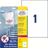 Avery Zweckform Folienetikett antimikrobiell A4 weiß