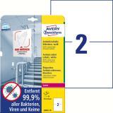 Avery Zweckform Folienetikett antimikrobiell A5 weiß