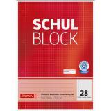 BRUNNEN Schulblock DIN A4, Lineatur 28, 50 Blatt Recycling