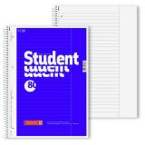 BRUNNEN Collegeblock DIN A4, Lineatur 25, mit Rand, 80 Blatt