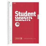BRUNNEN Collegeblock / Schulblock DIN A4, Lineatur 26, 80 Blatt