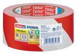 tesa® Signalklebeband Universal rot, weiß