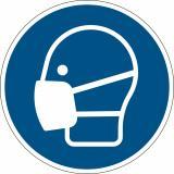 DURABLE Hinweisschild Maske benutzen blau rund