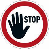 DURABLE Hinweisschild STOP rot rund