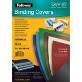 Fellowes® Einbanddeckel Chromolux schwarz