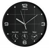 UNILUX Wanduhr On Time 400094567 30cm Kunststoff sw