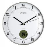 UNILUX Wanduhr Tempus 400094592 30,5cm Kunststoff metallgrau